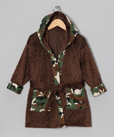 Brown Camo Lil' Dude Robe - Toddler & Boys