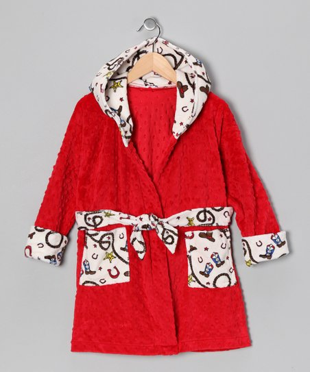 Red Western Lil&#039; Dude Robe - Toddler &amp; Boys