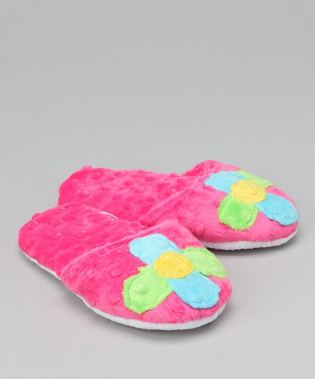 Pink Flower Ruffle Slipper