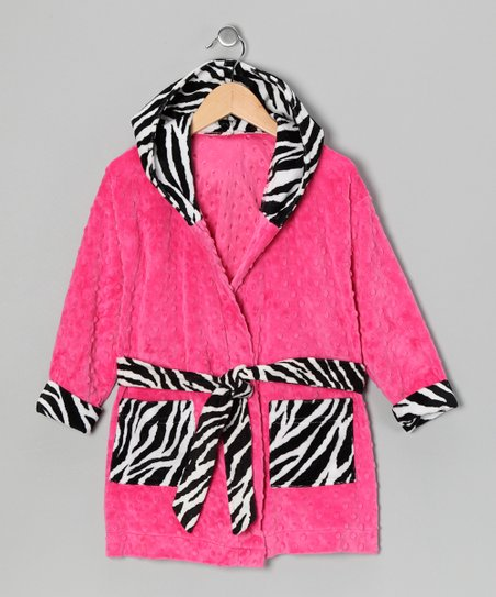 Pink Zebra Robe - Toddler &amp; Girls