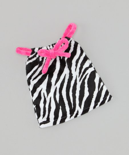 Zebra Drawstring Doll Dress
