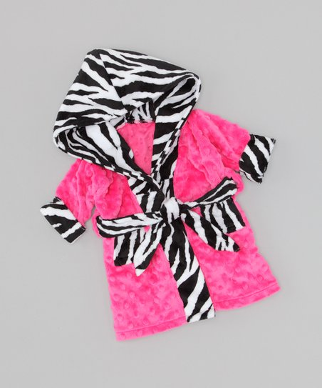 Pink Zebra Doll Robe