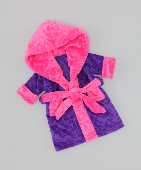 Purple & Pink Doll Robe