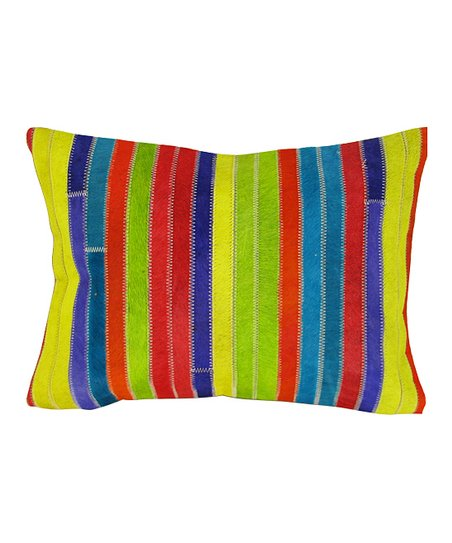Multicolor Strip Rectangle Pillow