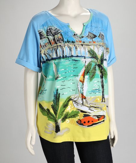 Thomas &amp; Olivia Aqua Tropical Cruise Top