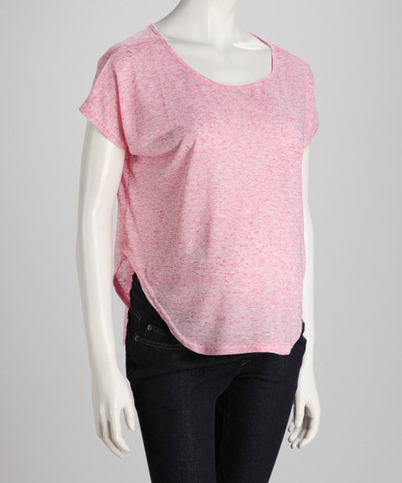 Raspberry Two-Tone Maternity Top