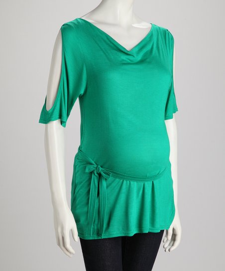 Emerald Cutout Maternity Tunic