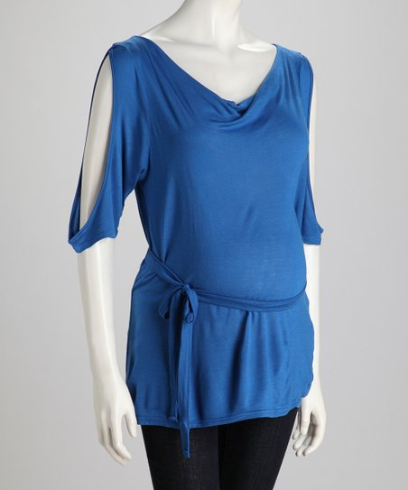 Princes Blue Cutout Maternity Tunic