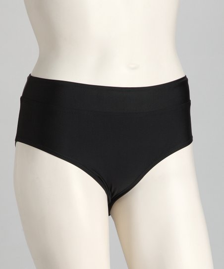 Black High-Waist Bikini Bottoms