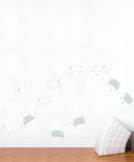 Light Gray Baby Sheep Wall Decal
