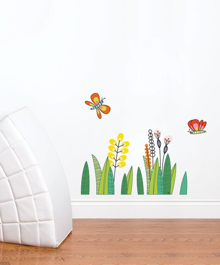 Butterflies in the Grass Wall Decal