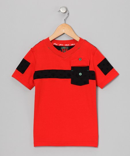 Red Astor V-Neck Tee - Infant, Toddler & Boys