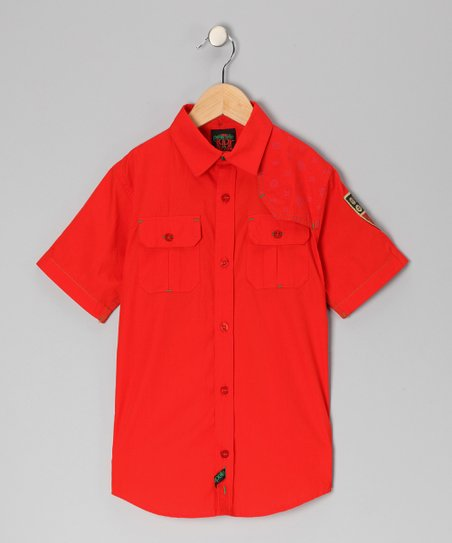 Red Wall St. Woven Button-Up - Infant, Toddler & Boys