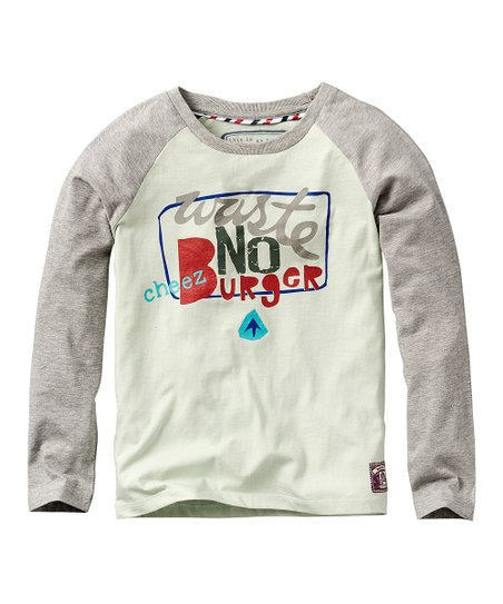 Ocean Green 'Cheez Burger' Long-Sleeve Tee
