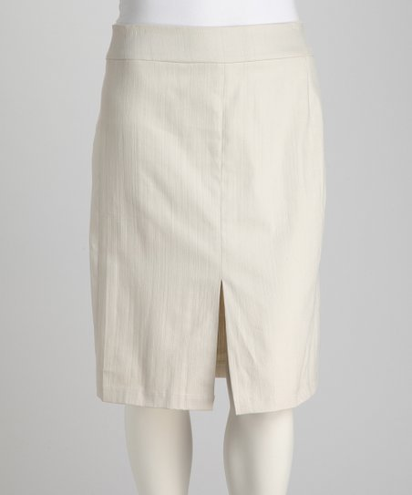Jill Alexander Cream Alison Plus-Size Skirt