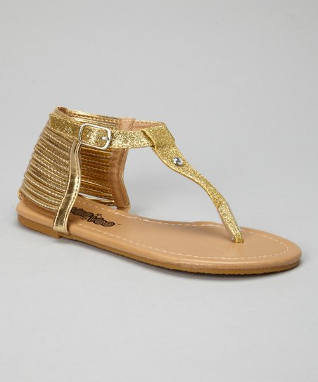 Gold Glitter Sandal