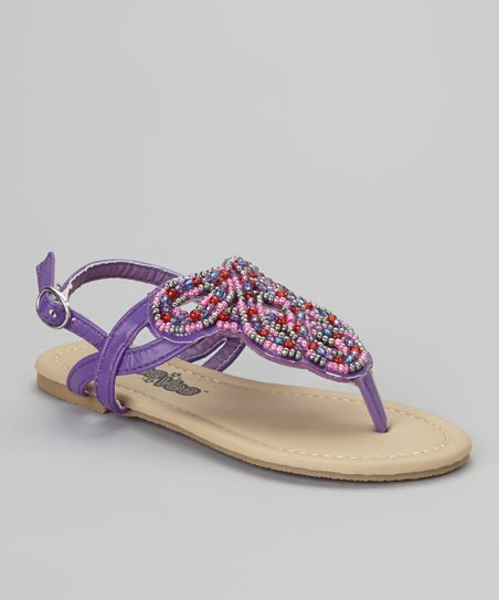 Purple Beaded Sandal