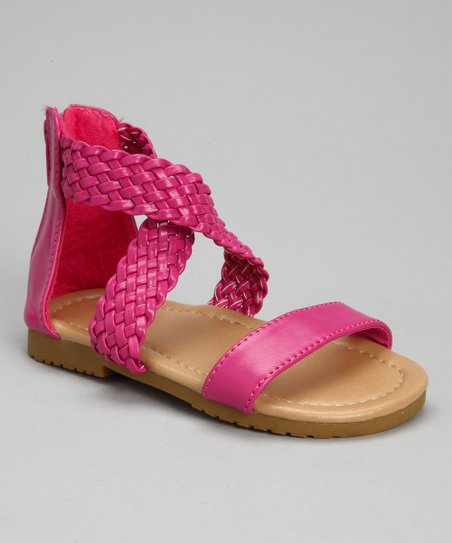 Fuchsia Braid Sandal