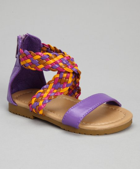 Purple Rainbow Braid Sandal