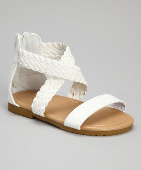 White Braid Sandal