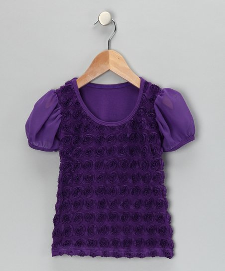Purple Rosette Tee - Infant, Toddler & Girls