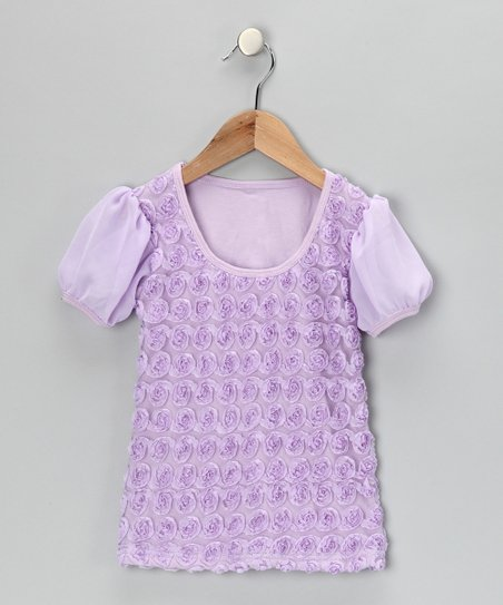 Lavender Rosette Tee - Infant, Toddler & Girls