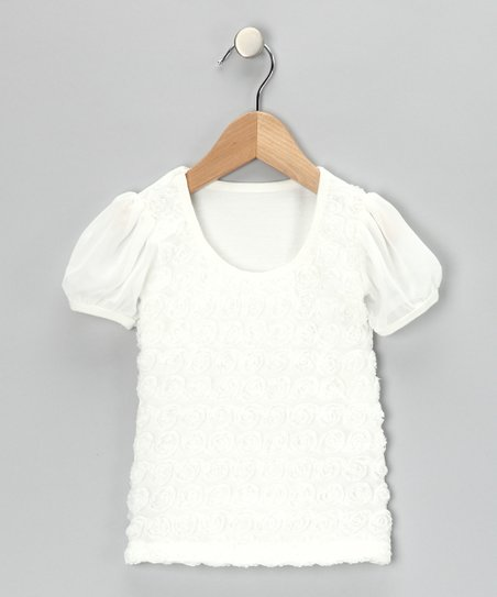 Cream Rosette Tee - Infant, Toddler & Girls