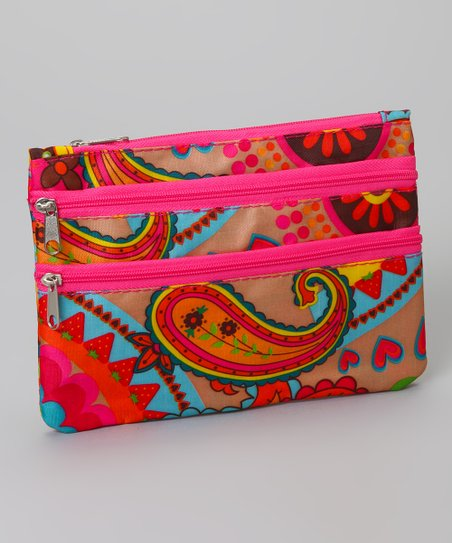 Yellow & Orange Paisley Coin Purse