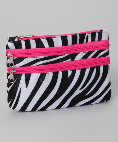 Pink Zebra Coin Purse