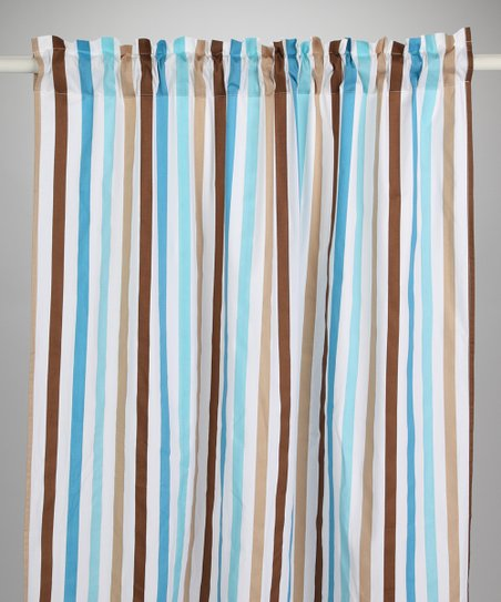 Diamond & Stripe Curtain Panel