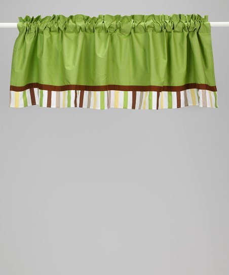 Green & Yellow Mod Dot & Stripe Valance