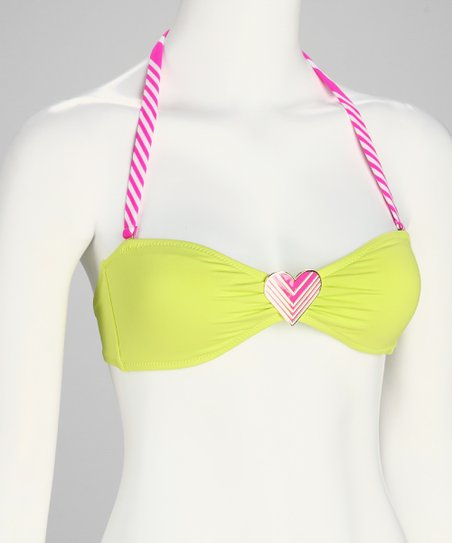 Limelight On My Mind Brazilian Bandeau Bikini Top