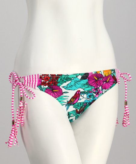 Pink Parrot Jungle Sweet Pea Bikini Bottoms