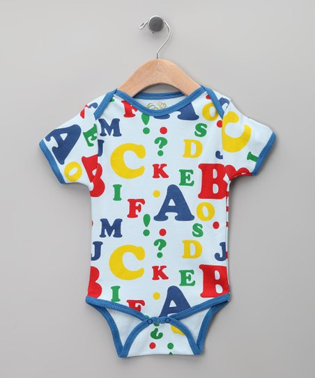 Blue Alphabet Organic Bodysuit - Infant