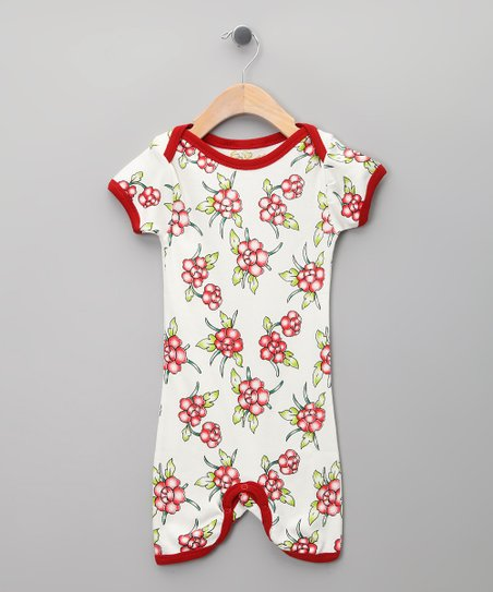 White Floral Organic Romper - Infant