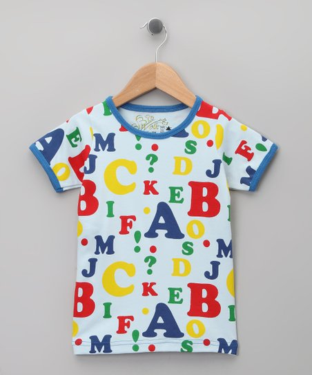 Blue Alphabet Organic Tee - Infant, Toddler & Kids