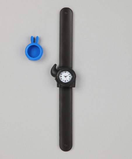Black &amp; Blue Bunny Slap Watch Set