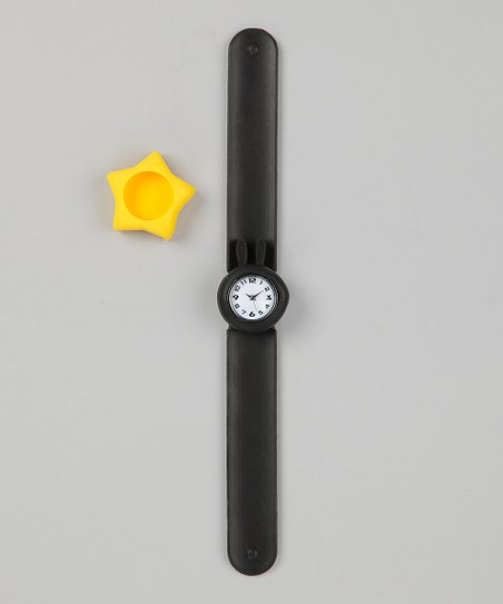 Black & Yellow Star Slap Watch Set