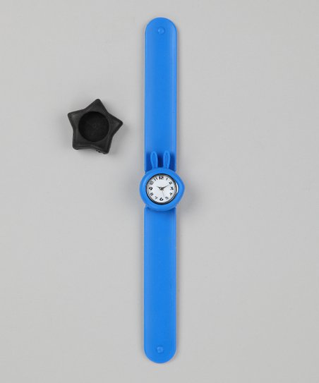 Blue & Black Star Slap Watch Set