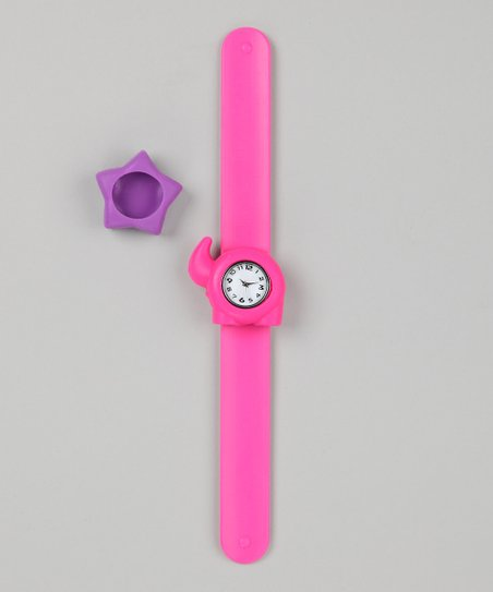 Pink & Purple Star Slap Watch Set