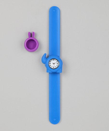 Blue & Purple Bunny Slap Watch Set