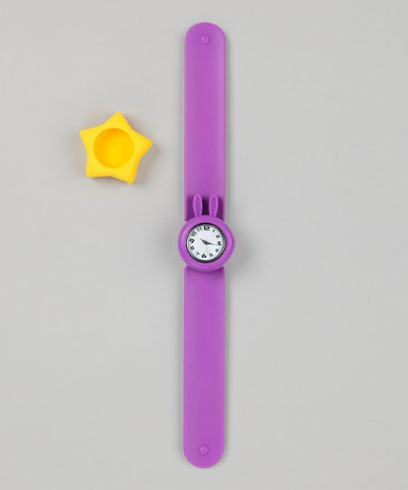Purple & Yellow Star Slap Watch Set