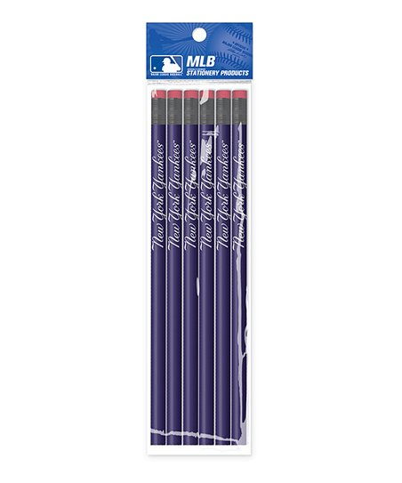 New York Yankees Wood Pencil - Set of Six