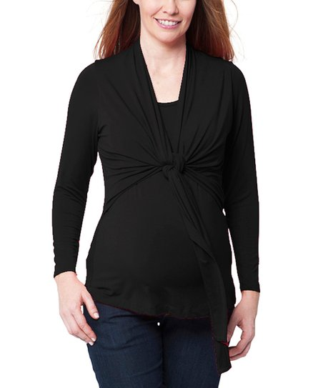 Black Luisa Maternity & Nursing Top
