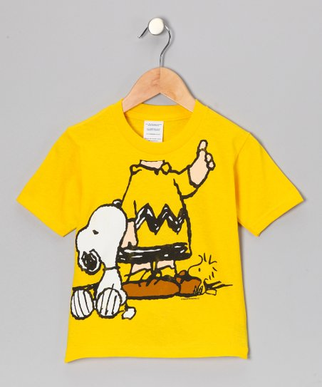 Yellow Charlie Brown Tee - Toddler