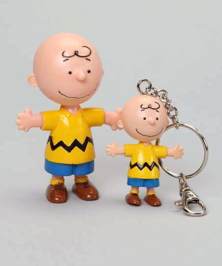 Charlie Brown Bendable & Key Chain Set