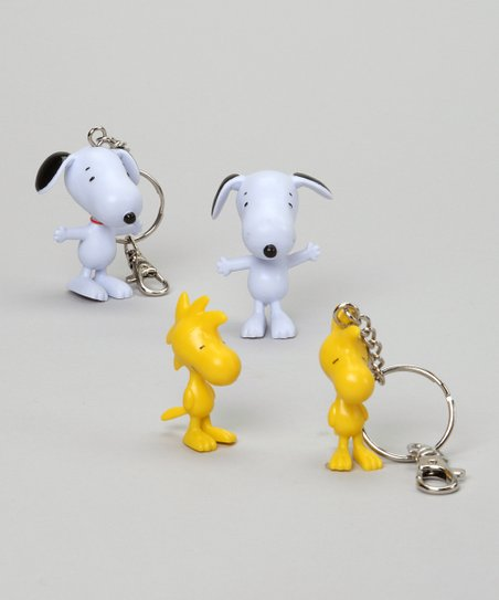 Snoopy & Woodstock Bendable Figures & Key Chains