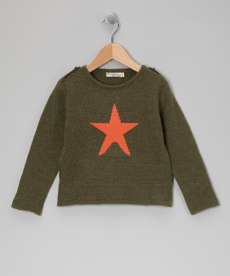 Olive Star Cashmere Sweater - Toddler & Kids