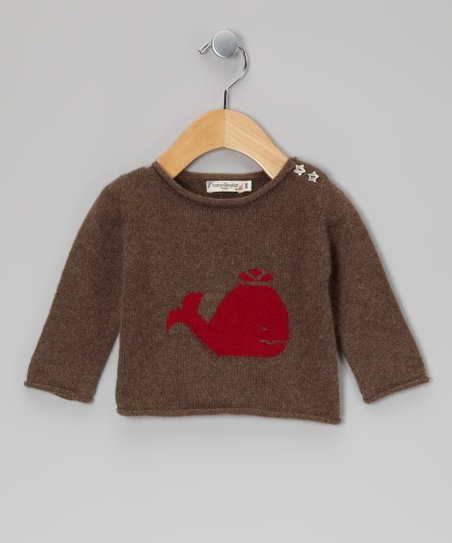 Brown Whale Cashmere Sweater - Infant