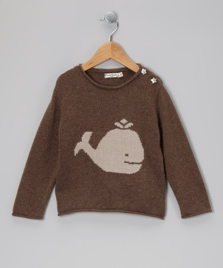 Brown Whale &amp; Star Cashmere Sweater - Toddler &amp; Kids